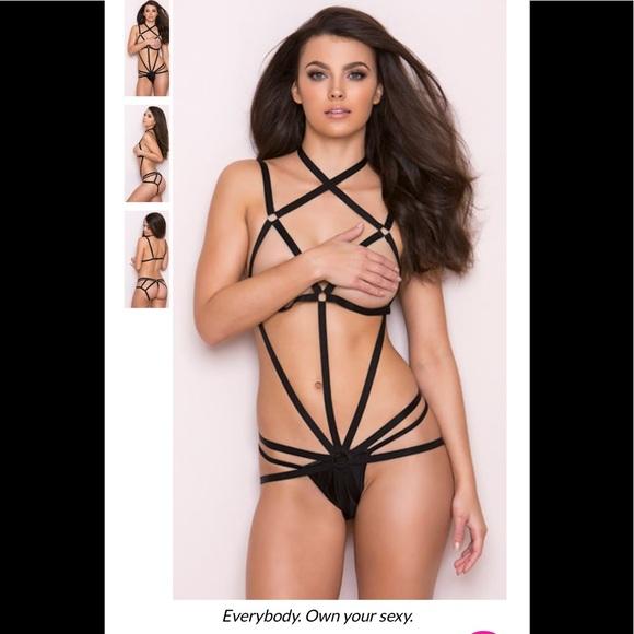 3676622415805 Rene Rofe Intimates & Sleepwear   Nib Wrapped In Lust Body Harness ...